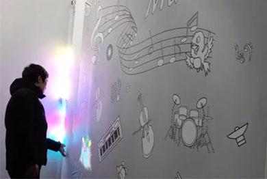 墙面投影雷达互动