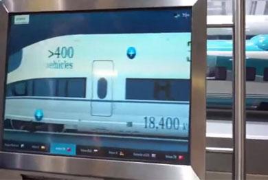 高铁滑轨电视设备演示